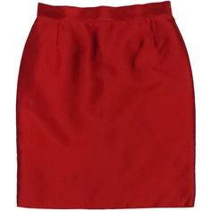 Pre-owned Dolce & Gabbana Red Silk Skirt ($199) ❤ liked on Polyvore featuring skirts, silk skirt, red skirt, red knee length skirt, dolce gabbana skirts and dolce&gabbana