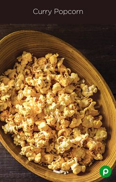Curry Popcorn: Perfect for the office party. Cook your way up the ...