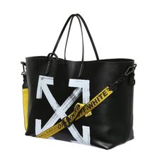 OFF WHITE - BRUSHED ARROWS TOTE BAG #offwhite