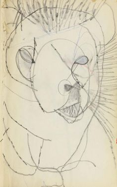 Untitled [Zoo Drawing—Lion] | Robert Rauschenberg Foundation
