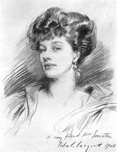 """Mrs. George Swinton"" - by John Singer Sargent"