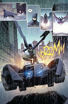 """Riding the Batmobiel in Batman #52 """"The List"""" (2016) - Riley Rossmo, Brian Level, Ivan Plascencia, & Jordan Boyd"""
