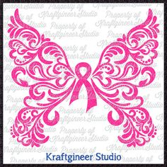 Filigree Awareness Butterfly SVG Swirly Butterfly SVG Cancer Butterfly SVG cut file for Cricut Silhouette Scan N Cut Commercial Use by KraftgineerStudio Butterfly Design, Butterfly Wings, Butterfly Tattoos, Butterfly Crafts, Ribbon Tattoos, Maquillaje Halloween, Cricut Vinyl, Cricut Air, Vinyl Projects