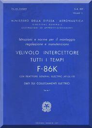 FIAT / NAA F-86 K Aircraft Maintenance Manual - Electric - Vol. 11