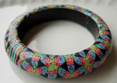 Magic Basketweave Bangle Bracelet by rengalsa on Etsy, $40.00