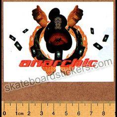 Anarchic Adjustment Clothing Old School Skateboard Sticker - SkateboardStickers.com