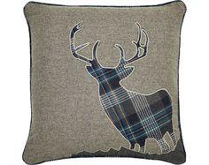 Applique Stag Cushion  http://www.klife.co.uk/distributors/91293/Eve-Ellwood?returnUrl=/klifeshop/home/soft-furnishing/applique-stag-cushion/