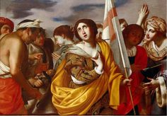Martirio de Santa Úrsula y compañeras. Óleo de Filippo Vitale, colección privada.