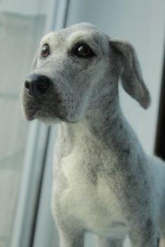 Needle Felted Great Dane Dog custom order pet by AliceFelts, $200.00