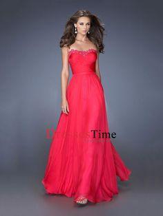 A-line Sweetheart Appliques Chiffon Prom Dress PD2662