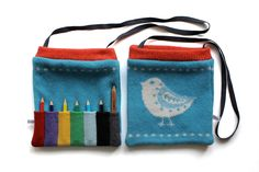 For the budding artist. Knitted Picture Pencil Bag