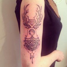 Supakitch Tattoo diamond rose matryoshka matriochka