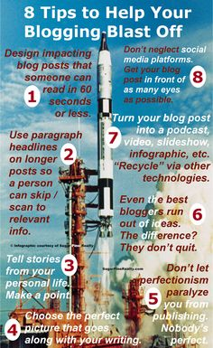 Sugar Pine Realty Blog - Sonora, Twain Harte, Mother Lode, Lake Tulloch Area Real Estate Company 8 Tips to Help Your Blogging Blast Off [infographic]