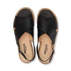 Slingback sandal med spænde - 3