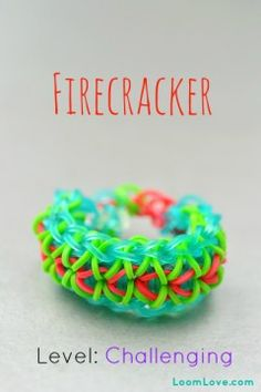 January 25, 2014  How To Make Rainbow Loom firecracker.  Cool.  Gray, red and orange.