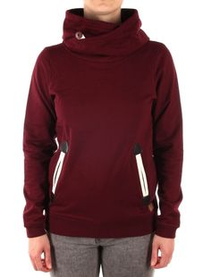 Cushy Basic Hoody [maroon mel.] // IRIEDAILY Sweats Women // FALL/WINTER 2014: http://www.iriedaily.de/women-id/women-sweats/ #iriedaily