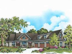 Craftsman Style House Plan with 3267 Square Feet and 4 Bedrooms from Dream Home Source | House Plan Code DHSW077127