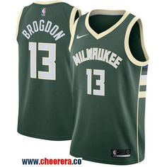Men s Nike Milwaukee Bucks  13 Malcolm Brogdon Green NBA Swingman Icon  Edition Jersey 2eeb19587