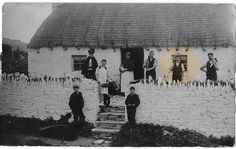 "Dear Ted ... The only likeness I got of Labe (sp?) Years ... Sandy (+  Shaw) ... old thatched Cottage ... Fellow employees of ""Howards"" Liverpool ... Isle of Man ... between England & Ireland"