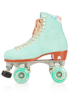 Mint roller skates. How fun are these?