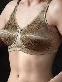 c97a286c9d Fits like all NEARLY ME® soft cup mastectomy bras Floral jacquard pattern  creates an elegant