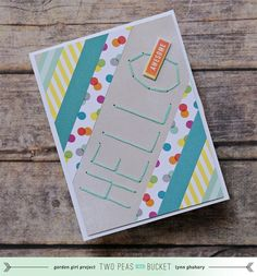 Seeing Double: Hand Stitched Layout and Card - Two Peas in a Bucket