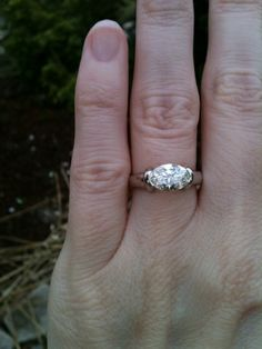 I like this but if the band was tapered into the diamond. 1.22 ct