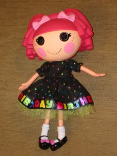 """Lalaloopsy Doll Clothes for 12"""" doll.  BIRTHDAY dress with petticoat."""