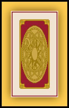 Free Card Captor Sakura Cross Stitch Pattern Clow Card