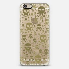Skulls Gold @casetify sets your Instagrams free! Get your customize Instagram phone case at casetify.com and get $10 off with code ZN4AQG! #CustomCase #Casetify #iphonecase #phonecover #skulls #crossbones #gold #glitter