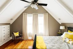 These homeowners transformed a dark and drafty attic into a luxurious bedroom to win our 2013 Reader Remodel Contest for Best Master Suite Redo. | Photo: Eric Roth | thisoldhouse.com