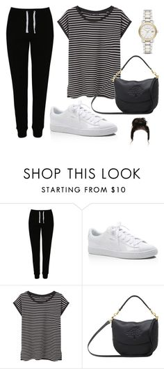 """Sin título #2998"" by greciavalentino ❤ liked on Polyvore featuring George, Puma, MANGO, Mulberry and Burberry"