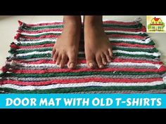 DOOR MAT WITH OLD T-SHIRTS || కాలు మేట్ - YouTube