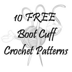 Are you a boot cuff addict? If you love to wear boots than these are the perfect accessory. Check out all these free boot cuff crochet patterns and make some for yourself (or to sell) in every colo...