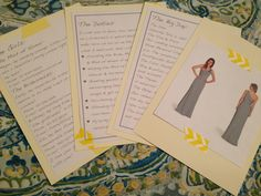 DIY Will you be my bridesmaid gift information cards for the bridesmaids!  A card each for the big day, the dresses, the girls, and the duties!  A great way to give the girls some of the basic wedding information & a great reference for them as you plan you wedding!  The big day includes times and places for the ceremony and reception and other times and places of other events. It's a great way to make sure they mark their calendars early!