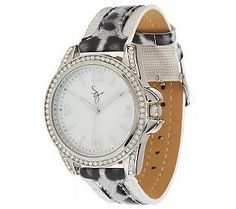 Pin to Win #SusanGraver Sweepstakes! {Animal Print Strap Watch with Crystal Accents} Enter here: http://sweeps.pinfluencer.com/QVC