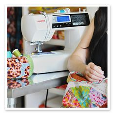 Here is where I explain some stuff. A Janome sewing machine has been on my sewing table for more than 13 years. Sewing Hacks, Sewing Tutorials, Sewing Crafts, Sewing Projects, Sewing Ideas, Craft Projects, Craft Ideas, Mini Quilt Patterns, Anna Maria Horner