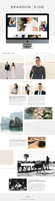 clean. modern. love the size and punch of the photos. This site is so minimal, but the photography does the talking, which is nice.  We love that they included some personal travel images. Lots of white space. Love their gallery style.