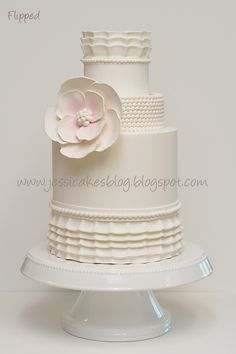 Vintage Ruffle Wedding Cake