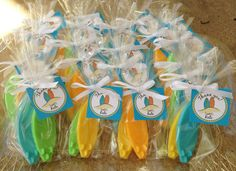 SURFBOARD SOAPS (10  Favors) - Spring Party Favor, Luau Favor, Birthday Party Favor, Wedding, Baby or Bridal Shower Favors. $15.50 USD, via Etsy.