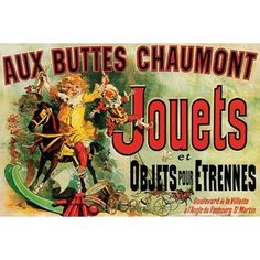 Aux Buttes Chaumont Jouets Jules Cheret Art Print Framed Poster by ProFrames inch -- Click image for more details. (This is an affiliate link) Vintage Advertising Posters, Vintage Advertisements, Vintage Ads, Vintage Prints, French Vintage, Vintage Posters, Cool Wall Decor, Tv Decor, Room Decor