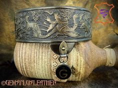 Welcome to see more pictures of my Game of Thrones collar in my #Etsy shop #Gemsplusleather 😌 #tooledleather #dog #collar #handpainted #handmade #leather #leatherworking #leatherworks #leatherwork #leathercraft #artisan #handcarved #gemsforall #etsyseller #crafts #petaccessories #dogcollar #dogcollars #etsyshop #custommade #vegtanleather #customleatherwork #got #gameofthrones #gameofthronesfan Tooled Leather, Leather Tooling, Handmade Leather, Leather Craft, Diy Jewelry Supplies, Painting Leather, Leather Dog Collars, Leather Projects, Pet Accessories