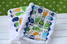 She's {kinda} Crafty: Baby Boy {Burp} Cloths!