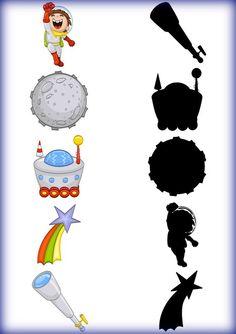 Conocimiento del espacio | Mírame y aprenderás Preschool Themes, Preschool Science, Montessori Activities, Preschool Worksheets, Infant Activities, Writing Activities, Space Party, Space Theme, Space Solar System