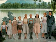 The Sound of Music. Youngest to oldest, Gretel, Marta, Brigitta, Kurt, Louisa, Friedrich, Liesel,  Maria, Geog.