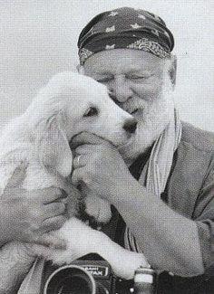 """Photographer *Bruce Weber* and his Labrador Puppy""  ----  [Photographer Jack Pierson]'h4d'121021"