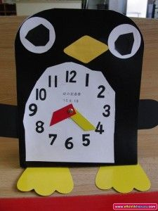 penguin clock craft idea