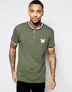 Good For Nothing | Good For Nothing T-Shirt With Zip Neck at ASOS