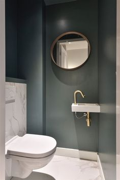 Small Downstairs Toilet, Small Toilet Room, Downstairs Bathroom, Decoration Inspiration, Bathroom Inspiration, Bathroom Styling, Bathroom Interior Design, Small Toilet Design, Modern Toilet Design