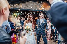 Orange Confetti Petals Rustic Summer Country Fayre Wedding http://candidandfrankphotography.com/